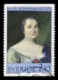Hedvig Charlotta Nordenflycht, swedish poet, feminist Royalty Free Stock Photography