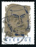 Auguste Beernaert. SWEDEN - CIRCA 1999: stamp printed by Sweden, shows Auguste Beernaert, circa 1999 Stock Images