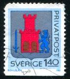 Bohuslan Arms. SWEDEN - CIRCA 1981: stamp printed by Sweden, shows Bohuslan Arms, circa 1981 royalty free stock image