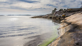 Sweden Coast Baltic sea. View  from  rocky coast of Sweden on the Baltic sea Royalty Free Stock Photography