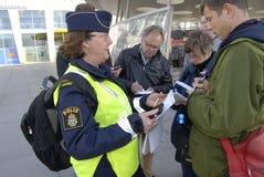 SWEDEN CONFIRM BORDER CONTROL TODAY AT NOO Royalty Free Stock Photos