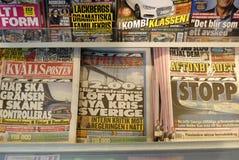 SWEDEN CONFIRM BORDER CONTROL TODAY AT NOO Royalty Free Stock Photo