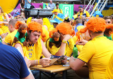Sweden corner in fan zone Royalty Free Stock Images
