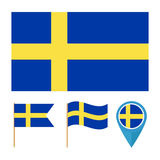 Sweden, country flag vector Stock Image