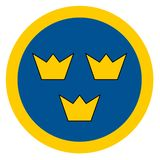 Sweden country roundel stock images