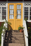 Sweden door. Entrance of typical house in Sweden Royalty Free Stock Photos