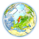 Sweden on Earth isolated Stock Photography