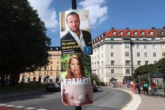 Sweden election signs Royalty Free Stock Images