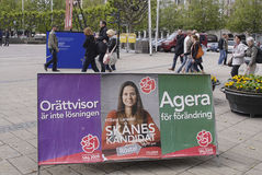 SWEDEN EU ELECTION BANNERS Stock Photography