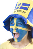 Sweden Fan Royalty Free Stock Image