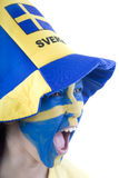 Sweden Fan Royalty Free Stock Photos