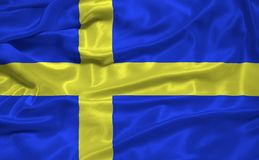Sweden Flag 3 Stock Photo