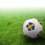 Sweden flag on 3d Football. For Euro 2012 Group D Stock Images