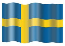 Sweden Flag Royalty Free Stock Photo