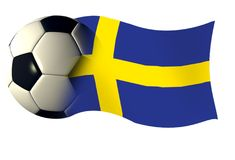 Sweden flag. World cup illustration Royalty Free Stock Photography