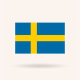 Sweden Flag. Accurate dimensions, proportions and colors. Vector Illustration Stock Photo