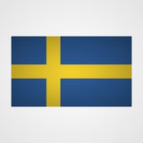 Sweden flag on a gray background. Vector illustration stock illustration