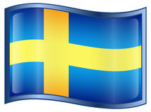 Sweden Flag Icon Royalty Free Stock Images