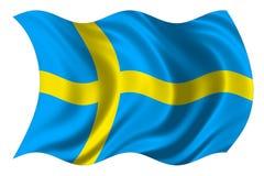 Sweden flag isolated. 2d illustration of sweden national flag over white background royalty free illustration