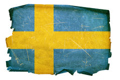 Sweden Flag old Royalty Free Stock Photo