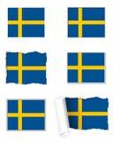 Sweden flag set Royalty Free Stock Photo