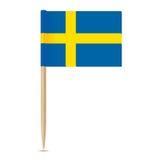 Sweden Flag. Swedish Flag toothpick 10eps Stock Image