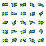 Sweden flag, vector illustration Stock Photos
