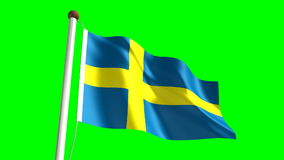Sweden flag stock footage