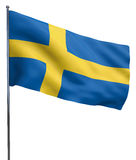 Sweden Flag Waving Stock Photo