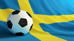 Sweden football. Soccer ball on the flag of Israel Stock Photos