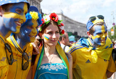 Sweden football fans Royalty Free Stock Images