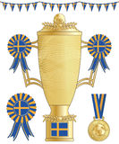 Sweden football trophy Royalty Free Stock Images