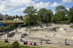 Sweden, Gothenburg, Skatepark royalty free stock images