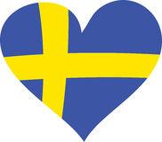 Sweden Heart Royalty Free Stock Images
