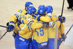 Sweden ice hockey team Stock Images