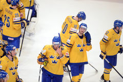 Sweden ice hockey team Stock Photography