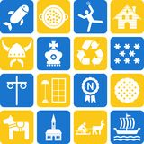 Sweden icons Royalty Free Stock Image