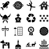 Sweden icons. Some icons representing Sweden and its traditions Royalty Free Stock Image