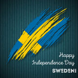 Sweden Independence Day Patriotic Design. Royalty Free Stock Photo