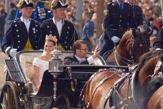 sweden królewski ślub Fotografia Royalty Free