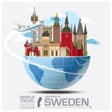 Sweden Landmark Global Travel And Journey Infographic Stock Photo