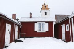 Sweden, Luleå Old City, Gammelstad. View over city church. Stock Photo
