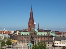 Sweden, Malmo. Malmo, Sweden. Central square of the city Stock Image
