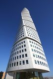 Sweden - Malmo. MALMO, SWEDEN - MARCH 8: Turning Torso skyscraper on March 8, 2011 in Malmo, Sweden. Designed by Santiago Calatrava, it is the most recognized Royalty Free Stock Photography