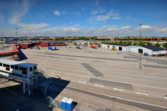 Sweden, Malmo, part of the port Stock Photo