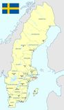 Sweden map - cdr format Royalty Free Stock Photos