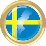 Sweden map and flag Stock Photo