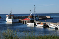 Sweden,  marina of Djupvik in summer Royalty Free Stock Photography