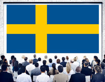 Sweden National Flag Government Freedom LIberty Concept Royalty Free Stock Image