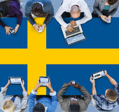 Sweden National Flag Government Freedom LIberty Concept Stock Photography
